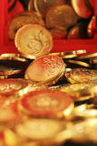 tła menniczego złota ilustracja odizolowywający wektorowy biel Zdjęcie Stock