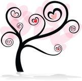 tła miłości drzewa biel Obrazy Royalty Free