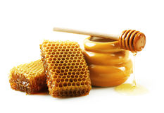 tła miodowy honeycombs obrazka biel zdjęcie stock