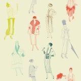 tła mody wiktoriański ilustracja wektor
