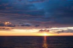 tła morze wysyła wschód słońca Fotografia Royalty Free