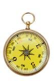 tła mosiądza kompas odizolowywający kieszeniowy biel Zdjęcia Stock