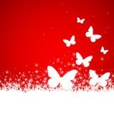 tła motyli ilustraci śnieg Zdjęcie Stock