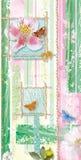 tła motyli kwiaty ilustracja wektor