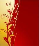 tła motyli kwiecisty złoty Zdjęcia Royalty Free