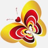tła motyli serc światło Zdjęcia Royalty Free