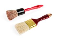 tła muśnięcia odizolowywający farby czerwony biel Fotografia Royalty Free