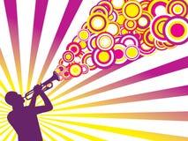 tła muzyk jazzowy royalty ilustracja