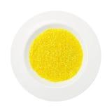 tła naczynia odosobniony ryżowy szafranowy biel Fotografia Stock