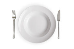 tła naczynia pusty odosobniony biel Fotografia Royalty Free
