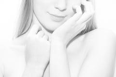 tła naramienni białej kobiety potomstwa Fotografia Stock