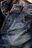 tła niebieskich dżinsów tekstura Obrazy Royalty Free
