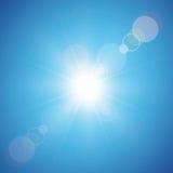 tła niebieskiego nieba słońce Obrazy Stock
