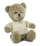 tła niedźwiadkowy handwork miękkiej części zabawki biel Obraz Stock