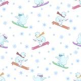 tła niedźwiedzi narciarski miś pluszowy Zdjęcia Royalty Free