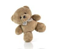 tła niedźwiedzia odosobniony miś pluszowy biel Fotografia Royalty Free