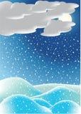 tła noc zima Fotografia Stock