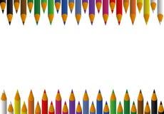 tła ołówków tęcza Zdjęcie Stock