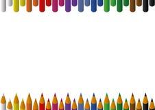 tła ołówków tęcza Zdjęcia Stock