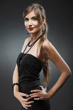 tła odosobniona portreta biała kobieta Yong Zdjęcie Stock