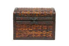 tła odosobnionego bagażnika biały drewniany Obrazy Royalty Free