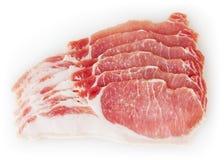 tła odosobnionej mięsnej wieprzowiny surowy biel Zdjęcia Stock