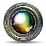 tła odosobniony obiektywu fotografii biel Zdjęcia Stock