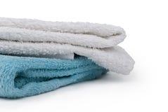 tła odosobniony ręczników dwa biel Zdjęcie Royalty Free