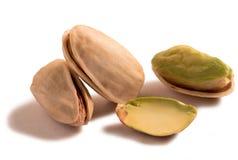 tła odosobnionych dokrętek pistacjowy biel zdjęcie stock