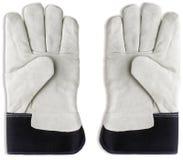tła ogrodnictwa rękawiczki biały Obraz Stock
