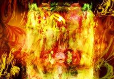 tła okropny ognisty ilustracja wektor