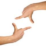 tła otoczki ręki biel Zdjęcie Royalty Free