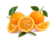 tła owoc odosobniony pomarańczowy biel Zdjęcia Royalty Free