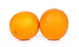 tła owoc odosobniony pomarańczowy biel Obrazy Royalty Free