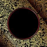 tła ozdobny czarny dekoracyjny złocisty luksusowy ilustracji