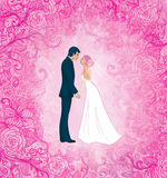 tła pary ślub Fotografia Royalty Free