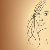 tła piękna dziewczyna Obrazy Royalty Free