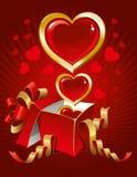 tła piękny dzień s valentine ilustracji