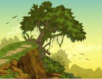 tła piękny krajobrazu wektor Obraz Stock