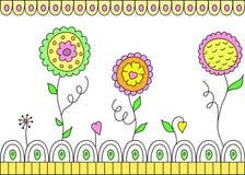 tła pięknych kwiatów bezszwowy wektorowy biel Royalty Ilustracja