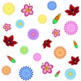 tła pięknych kwiatów bezszwowy wektorowy biel Ilustracji