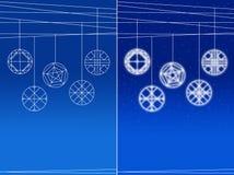 tła piłek błękitnawy wiszący set ilustracja wektor