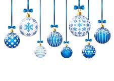 tła piłek błękitny boże narodzenia biały royalty ilustracja