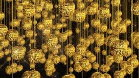 tła piłek dof złota płycizna ilustracji