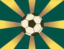 tła piłki nożnej sunburst Fotografia Royalty Free