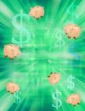 tła pieniądze piggybank oszczędzanie Obrazy Stock