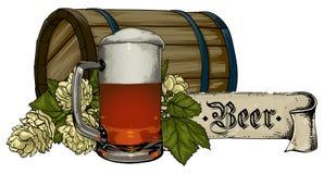 tła piwo zawiera gradientową siatkę Zdjęcie Royalty Free