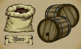 tła piwo zawiera gradientową siatkę Obraz Royalty Free