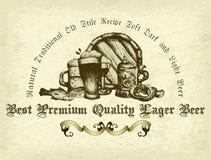 tła piwo zawiera gradientową siatkę Zdjęcia Stock