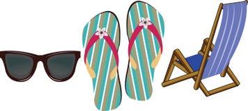 tła plażowego ilustracyjnego siatki lato tematu tropikalny wektor Obraz Stock